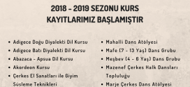 2018 – 2019 SEZONU KURS KAYITLARIMIZ BAŞLAMIŞTIR